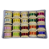 MUCH-MORE Glamorous Bollywood Fashion Indian Bangles Box Multi Color Party wear Bangles Jewelry (83, 2.8)