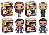 Supernatural Vinyl Figure Sam Dean Crowley Charlie Funko Pop TV Toy Set Bundle