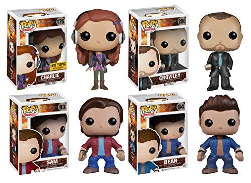 Supernatural Vinyl Figure Sam Dean Crowley Charlie Funko Pop TV Toy Set Bundle