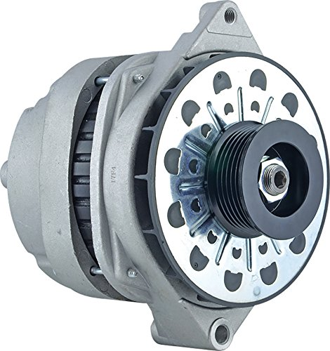 New Alternator for 4.6L Cadillac DeVille 98 99 1998 1999 210-5185, 10464088, 10464426, 10480296, 10480313 11Clock 140Amp External Fan Type Solid Pulley Type Internal Regulator CW Rotation 12V