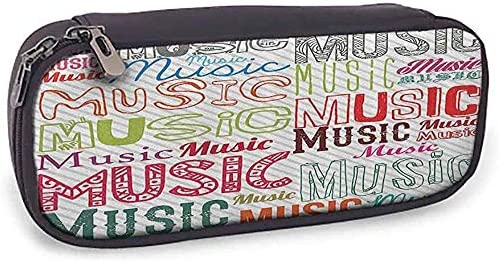 Federmäppchen Moderne Musik Typografie in verschiedenen Stilen Rhythm Acoustic Harmony Melody Funky Illustration