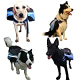 Deportes Y Aire Libre Best Deals - Ruibaolai Mascota Perro Mochila Mochila Deportes al Aire Libre Bolsa Jauría de Perros Mascota Exclusivos (L 66-93 cm, Azul)