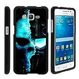 Miniturtle® [Samsung Galaxy Grand Prime black case, Grand Prime case ][Snap Shell] 2 Piece Design Case, Perfect Fit Hard Rubberized Protector - Demon Cyborg
