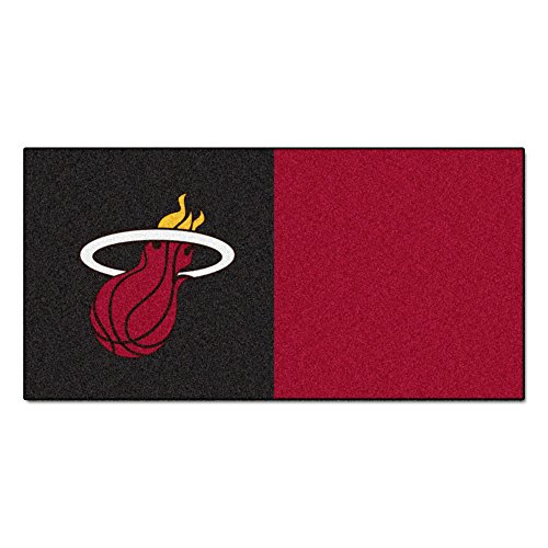 FANMATS NBA Miami Heat Nylon Face Team Carpet Tiles by Fanmats