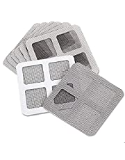 Screen Repair Kit for Window & Door,Fiberglass Cloth Mesh Tape Insect Barrier Strong Self Adhesive, DIY Protection for Window Screen,Repair Screen Stickers for Anti-Insect Door Patch (Large 8 pcs)