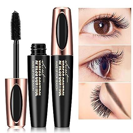 Mallalah 4D Fibra de Seda Pestañas Negro Impermeable Máscara Extensión Maquillaje Pestañas Pestañas de larga duración