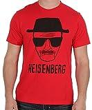 Breaking Bad Men's Heisenberg Short Sketch Mens Red T-Shirt M