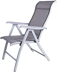 HTL Comfortable and Stable Heavy Duty Sun Lounger Garden Chairs Zero Gravity,Camping Garden Deck Chairs Folding Recliner Reclining Waterproof Chaise Sunloungers for Patio Pool Beach Lawn Niture