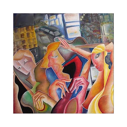 Peinture Contemporain Tableau à Lhuile Sur Grande Toile Art Moderne