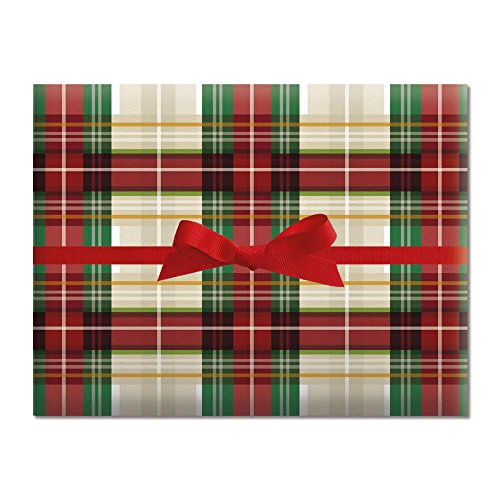 Classic Plaid Jumbo Rolled Gift Wrap- 67 sq. ft