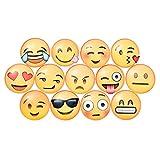 5PCS Yellow Chat Emoji Fridge Magnets Calendar Magnets Office Boards