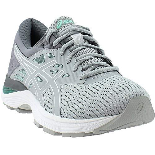 ASICS Womens Gel-Flux 5 Running Shoe, Mid Grey/White/Opal Green, Size 8