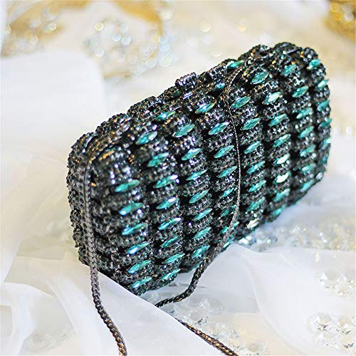 Cluth nocturnos Bag en Cluth Miss de Clubes Bag Fiesta Mujeres Prom Casual Discotecas Bag Rhinestone Joy Crossbody Crystal de para Mano Wedding Shoulder Bolso Party B0q7SB