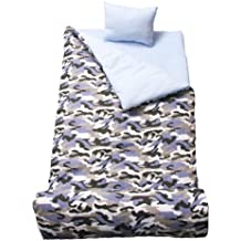 SoHo kids Blue Camouflage children sleeping slumber bag with pillow and carrying case lightweight foldable for sleep over