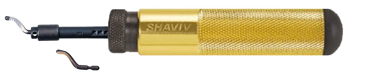 SHAVIV 29066 Classic SHAVIV Deburring Kit B With Aluminum Handle A (4 Pieces)