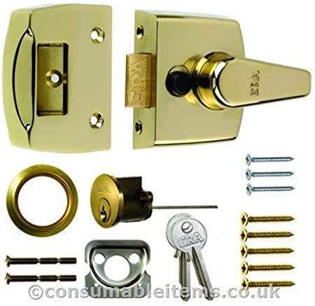 Era Replacement Front Door Lock 40mm - Polished Chrome Body - Chrome ...