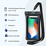 Mpow Waterproof Phone Pouch Floating, IPX8 Universal Waterproof Case Underwater Dry Bag Compatible iPhone Xs Max/Xs/Xr/X/8/8plus/7/7plus Galaxy s9/s8 Note 9/8 Google Pixel up to 6.5""