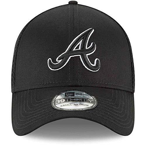 New Era Authentic Atlanta Braves Black Neo 39THIRTY Flex Hat (Medium/Large)