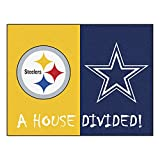 Fanmats 19316 NFL - Steelers - Cowboys House Divided Rug, Team Color, 33.75''x42.5''