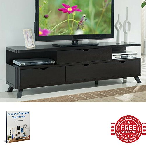 TV Stand for Flat Screens Storage Drawers Solid Modern Living Room Minimal Decor Indoor House Entertainment Center Furniture & Ebook Easy 2 Find. price