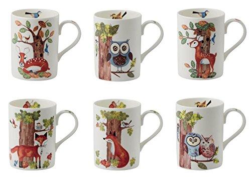 Roy Kirkham RSPB Natures Way Lyric Mugs, Set of 2 Random Des