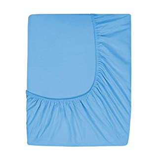 Prime Deep Pocket Fitted Sheet - Brushed Velvety Microfiber - Breathable, Extra Soft and Comfortable - Winkle, Fade, Stain Resistant (Blue, King)