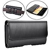 Samsung Galaxy J7 (2017) Case,Galaxy J7v Case/ J7 Prime Case/ J7 Sky Pro Case/ J7 Perx Case Gcepls Leather Holster Belt Clip Case Cover ( Fit with a TPU/Thin Case on ) - Black