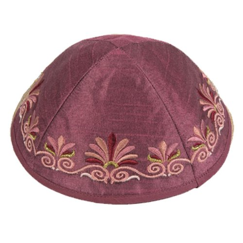 amazon com machine embroidered kippah flowers color yme 9m