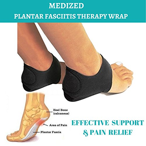 f31085ed99 MEDIZED® Plantar Fasciitis Therapy Wrap Heel Foot Pain Arch Support Ankle  Brace Insole Orthotic …