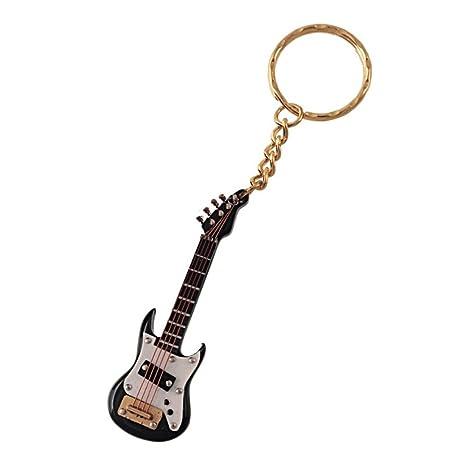 Ciaf, 2503-25351, llavero guitarra electrica negra. 12 cms. en estuche
