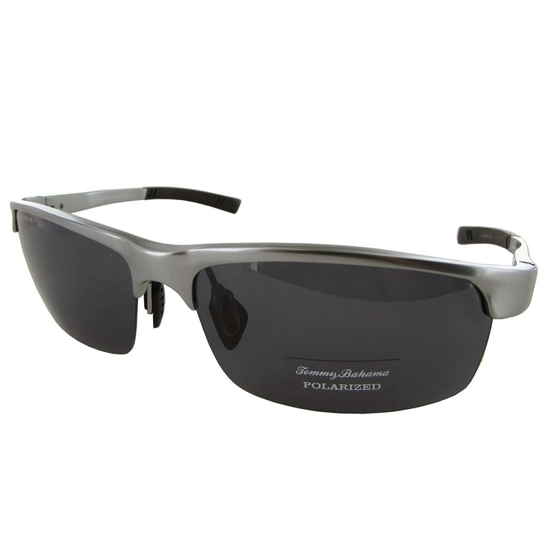 9ee84ccb53b Tommy Bahama Mens TB6018 Aloe-ha Polarized Semi-Rimless Sunglasses 70%OFF