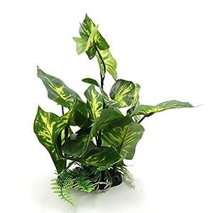 uxcell Green Plastic Terrarium Tank Lifelike Plant Decorative Ornament for Reptiles Amphibians 56