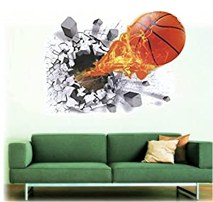 Deco-Designs Wandtattoo Basketball Wandsticker Aufkleber Sticker Spieler DDS 97