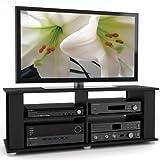 Sonax FS-3480 Fillmore TV Component Stand, Midnight Black