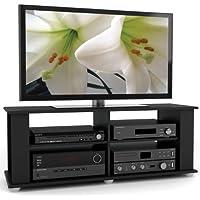Sonax FS-3480 Fillmore 48-Inch TV Component Stand, Midnight Black