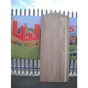 CURVED TOP OAK GARDEN GATE 4FT HIGH MEDIUM DUTY FLB (950MM WIDE)