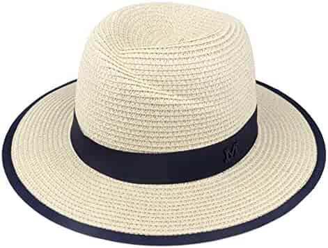 c0d78499d2b JINRMP Elegant Black Jazz Hats for Women White Sun Hat Men Formal Blue  Summer Beach Cap
