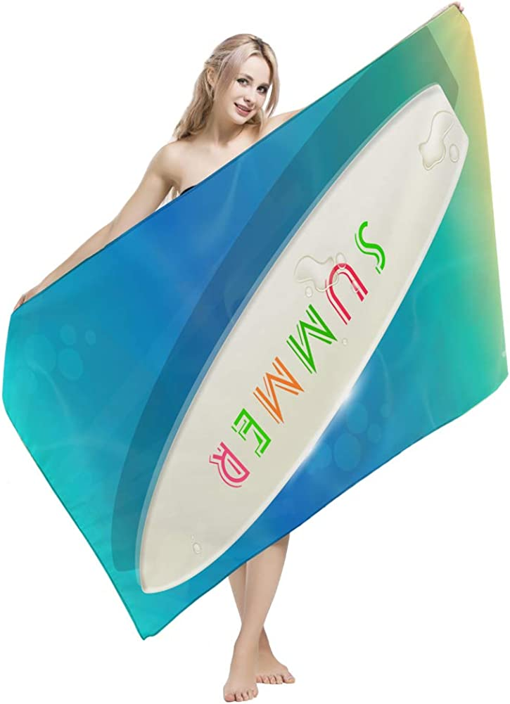 Ausion Microfiber Beach Towel (59 x 30 inch) for Travel, Camping, Beach, Swimming, Backpacking