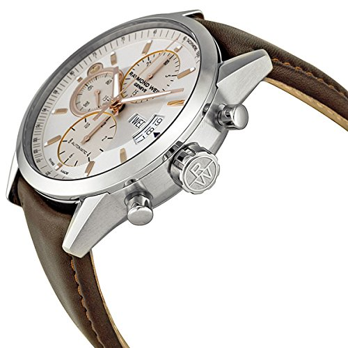 adf17bf83c3 Amazon.com  Raymond Weil Freelancer White Dial Chronograph Automatic Men s  Watch 7730-STC-65025  Watches