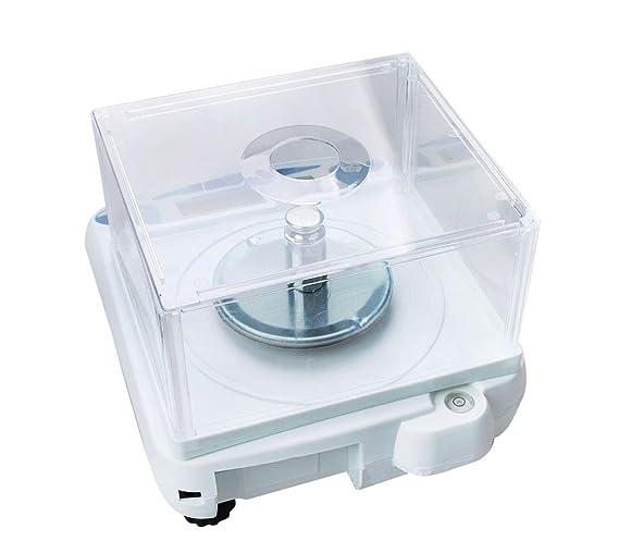 Funwill 500 x 0, 001 g 1 MG báscula de Laboratorio balanza Digital de Alta precisión para Farmacia o Joyas Quilates Pantalla LED + función de tarage + ...