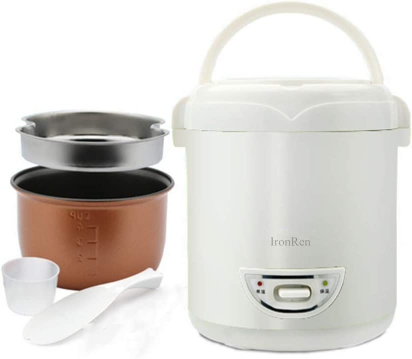 IronRen 1.0L Mini Rice Cooker, Electric Travel Rice Cooker Small, Removable Non-stick Pot, Keep Warm Function, Suitable For 1-2 People
