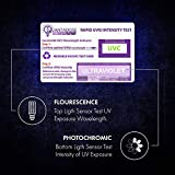 UVC Test Card Package for UV Sanitizer Wands, UV