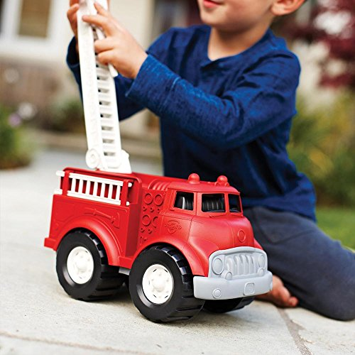 51Gnq8QSKYL - Green Toys Fire Truck - BPA Free, Phthalates Free Imaginative Play Toy for Improving Fine Motor, Gross Motor Skills. Toys for Kids