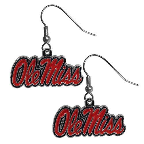 Siskiyou NCAA Mississippi Old Miss Rebels Chrome Dangle Earrings