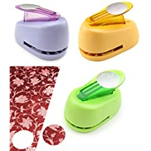 """1 Inch Circle Paper Punch - DIY Craft Cut Out Scrapbooking Custom Jewelry - 25mm - 1"""" (Lime Green)"""