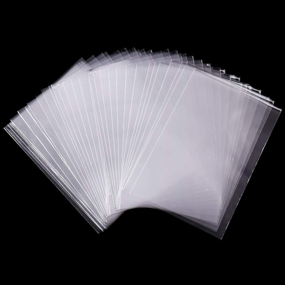 Tomkity 200 Piezas 7x10cm Bolsas Celofán Transparente Plastico Pequeñas OPP para Caramelo Bombones Regalos Boda Fiesta (7 * 10cm sin adhesiva)