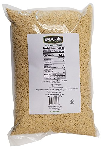 Israeli Toasted Pasta (Super Grains Valley Toasted Orzo Bag, 10 lb.)
