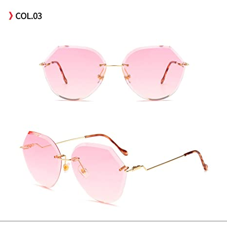 Yangjing-hl Año Polígono Moda Gafas de Sol Gafas de Sol ...