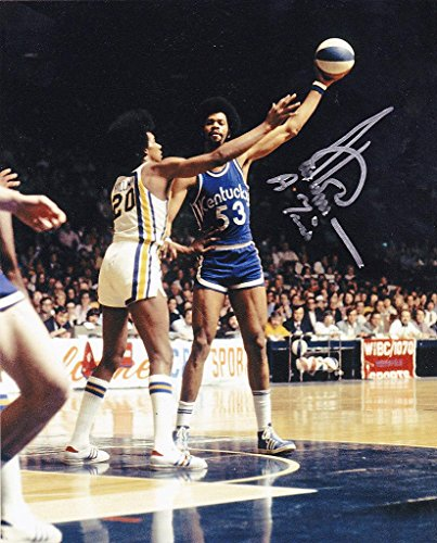 ARTIS GILMORE KENTUCKY COLONELS ABA 'A-TRAIN' ACTION SIGNED 8x10 - Autographed NBA Photos 8x10 Action Nba Photo