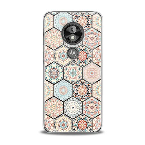 Lex Altern TPU Case for Motorola Moto G7 Power One P30 P40 Note G6 Z4 Moroccan Mosaic Clear Phone Arabic Cover Soft Bohemian Silicone Print Protective Boho Tile Themed Transparent Girls Women Present